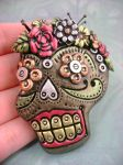 Metallic Sugar Skull by monsterkookies