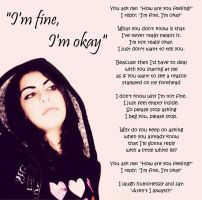 I'm fine, I'm okay by funkygirl4ever95lit