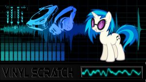 Vinyl Scratch (Wallpaper) by Hardii