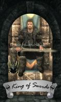 Skyrim Tarot - King of Swords by Whisper292
