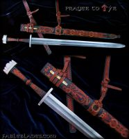 Prayer to Tyr: Two handed Viking Era Sword. by Fableblades