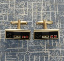 Nintendo NES Cufflinks by PlayBox-Designs