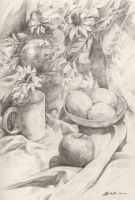 Still Life Practice by Wolfie-chama