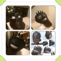 HTTYD 2 Hiccup Cosplay WIP - Helmet by On-Dragon-Wings