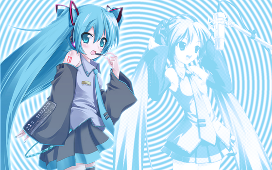 Miku Hatsune Wallpaper by pulsingmaggots