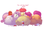 Fatty cutie-marks by secretgoombaman12345