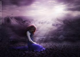 sadness and lonelyness by queenphotoshop
