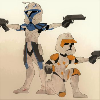 Commander Cody and Captain Rex by Pipparachi