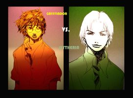Gryffindor VS Slytherin by Maseiya