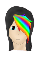 :PC: Human Headshot of Tekno for XxRaverKitty123 by Izuri-Chan93