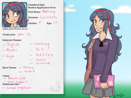 Chatsford High: Melissa Lewissle by Little-Miss-Boxie