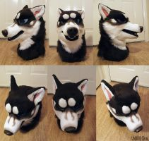 Snarky Husky Premade Head and Tail ~SOLD~ by undead-medic