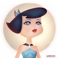 Betty Rubble - Pin-up by goRillA-iNK
