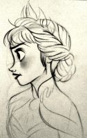 Elsa Sketch by CynthiaVilla