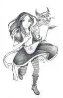 Alice and cat by Naruto-No-Dobe