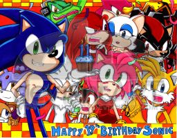 Sonic 19th Birthday by NinjaHaku21