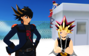 MMD - Yu-Gi-Oh - The Great Escape 1 by InvaderBlitzwing