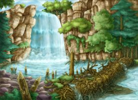 cartoon's scenery by vanessasan