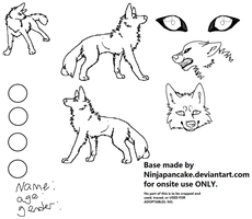 Free Canine Ref Sheet Base by NinjaPancake
