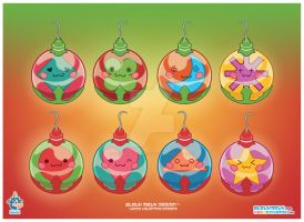 Kawaii Xmas Ornament Group by KawaiiUniverseStudio