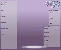 Elfen Lied Character Sheet - Blank by The-Silent-Angel