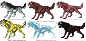 Wolf Adoptables by Refisadopts