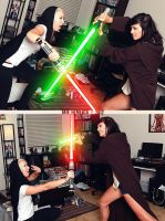 Jedi Vs Sith 01 Glowy by tatehemlock