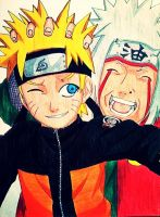 Naruto and Jiraiya by nikpurple