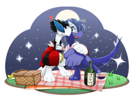 COM- Two Lugia in a Lovely Dove Picnic by Rexcalibur25