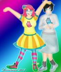 Homestuck: Jane Crocker and Trickster Jane Crocker by DannimonDesigns