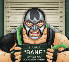 Gotham City Mugshots - Bane by Costalonga