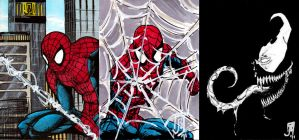 Spidey cards by giberwitz