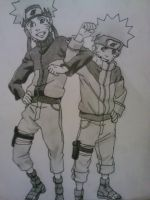 Naruto and Naruto by EymBee