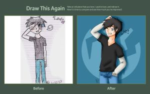 Draw this Again - Lucas Peterson by Darkmoonwriter