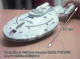 USS Voyager papercraft by ninjatoespapercraft