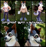 Sergeant Wolf Partial  by WindWo1f