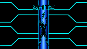 Smite/Tron Wallpaper by BarefootDesign