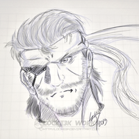 Solid Snake Sketch by Locke3K