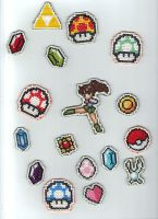 Cross Stitch Patches by purenightshade