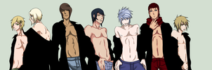 7 kinds of naughty ~All My male Naruto Ocs by ChiixKazu