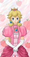 Princess Peach's Portrait by Xiaomei23