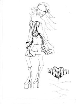 Fashion Drawing 2 - Textiles by ItsTheMyLilGothThang