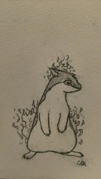 Daily: Quilava by Feanor-the-Dragon