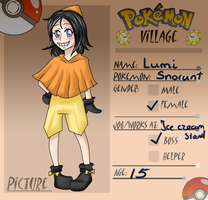 Poke-Village app- Lumi the Snorunt by TheRippedRagdoll