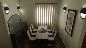 Waterhouse Townhouse design 1 - Dining room by MattShadowwing