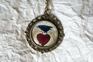 Poe's Heart - Necklace by MonsterBrandCrafts
