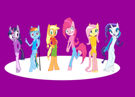 Pony girls on Sonic style by Keytee-chan