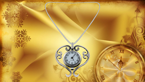 Clock Heart Necklace by ninjapirate10194