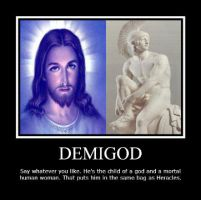 Demigod Motivational Poster by OlympianGrace
