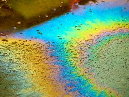 Rainbow In The Parking Lot by JohnKyo